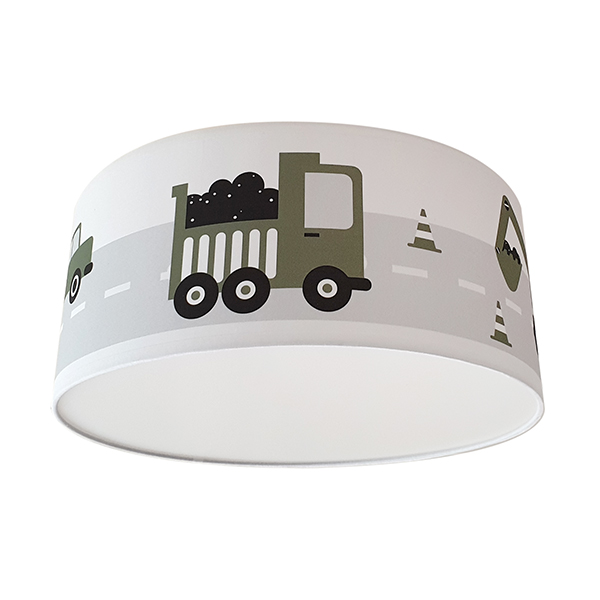 Plafondlamp Voertuigen olijf groen_ANNIdesign 01