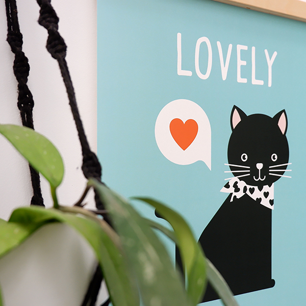 Poster Kitten Lovely blauw ANNIdesign 02