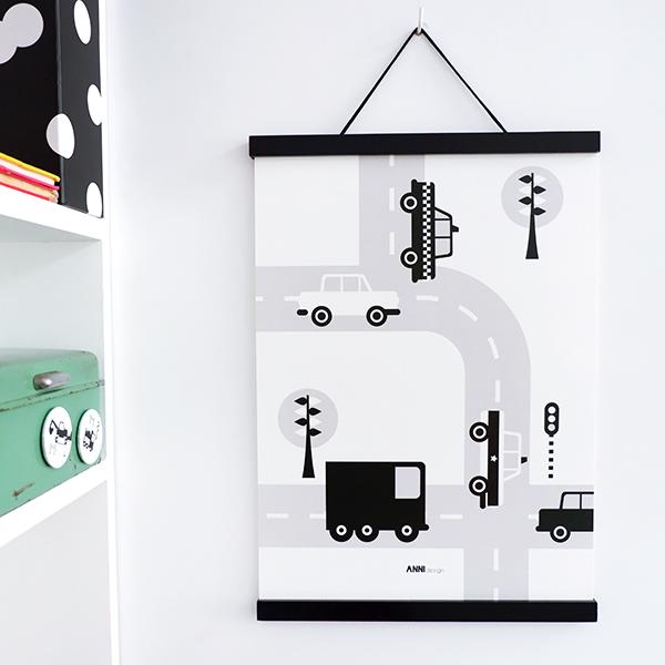 Poster Voertuigen Auto zwart ANNIdesign 01