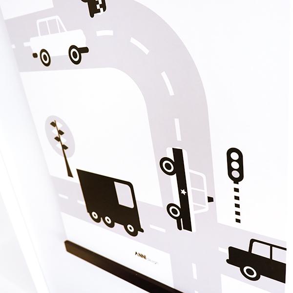 Poster Voertuigen Auto zwart ANNIdesign 02