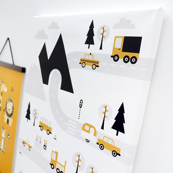 canvas voertuigen oker 40x60 02