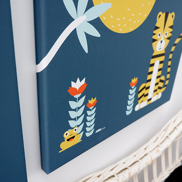 Canvas Jungle donker blauw 40x60 ANNIdesign 02