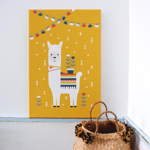 Canvas Lama oker geel 40x60 ANNIdesign 01