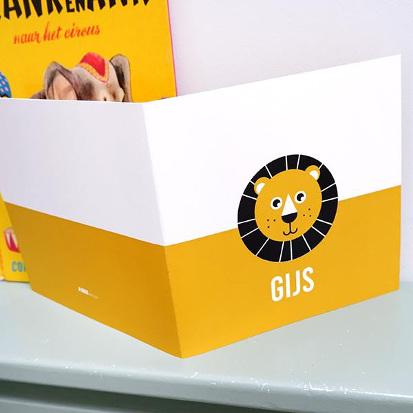 Geboortekaart Leeuw met oker geel ANNIdesign 04