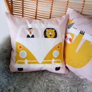 Kussen Safari oud roze ANNIdesign 01