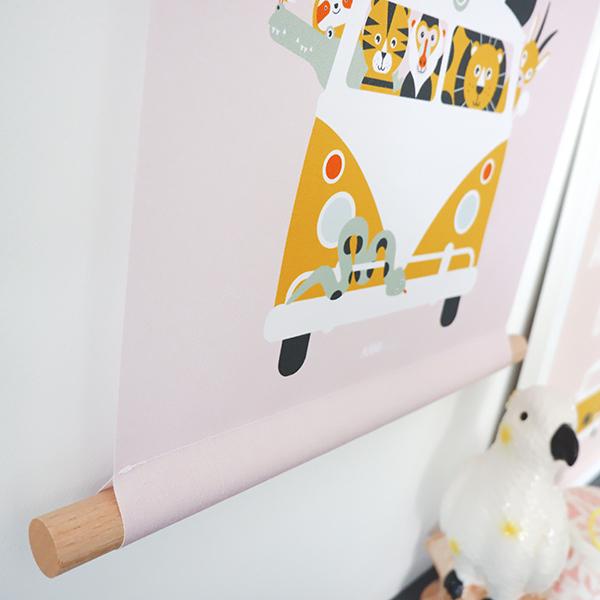 Textielposter Safari oud roze ANNIdesign 02
