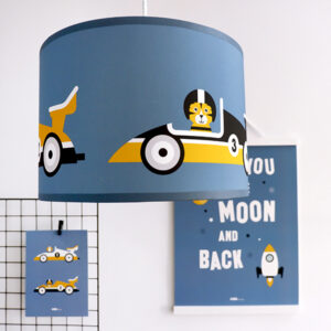 Hanglamp Raceauto jeans blauw ANNIdesign 01