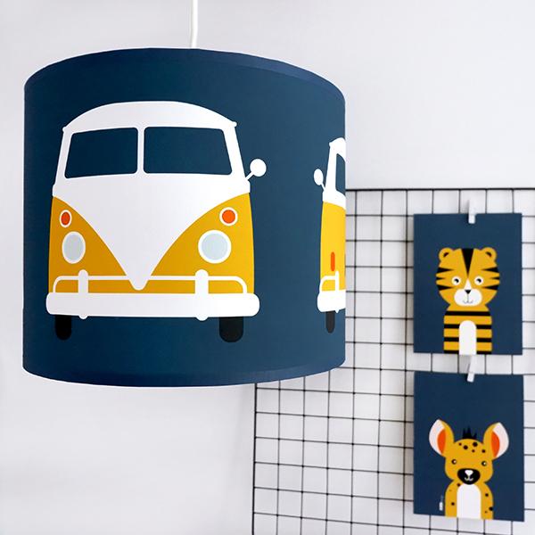 Lamp Safari Busje donker blauw ANNIdesign 01
