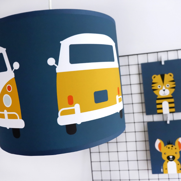 Lamp Safari Busje donker blauw ANNIdesign 02