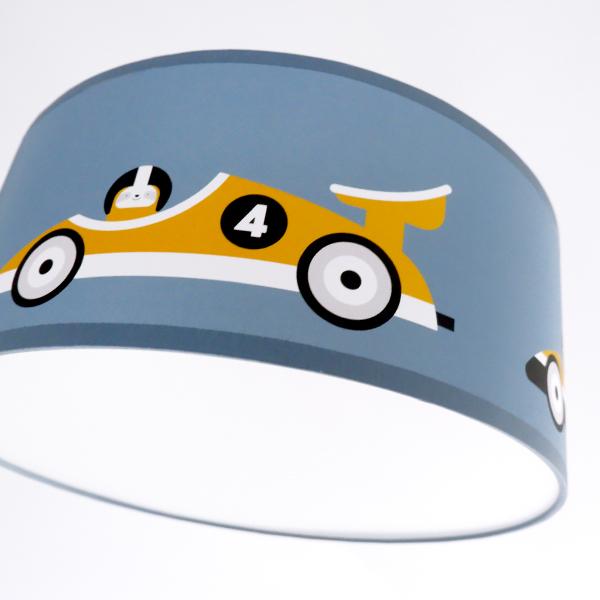 Plafondlamp Raceauto jeans blauw ANNIdesign 04