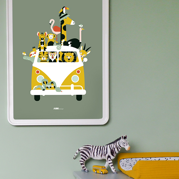 Poster XL Safari olijf groen ANNIdesign 02