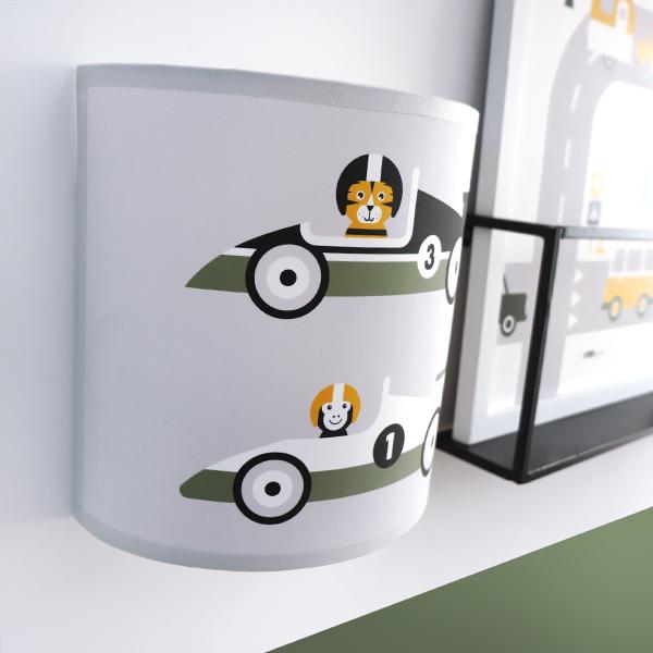 Wandlamp Raceauto grijs ANNIdesign 02