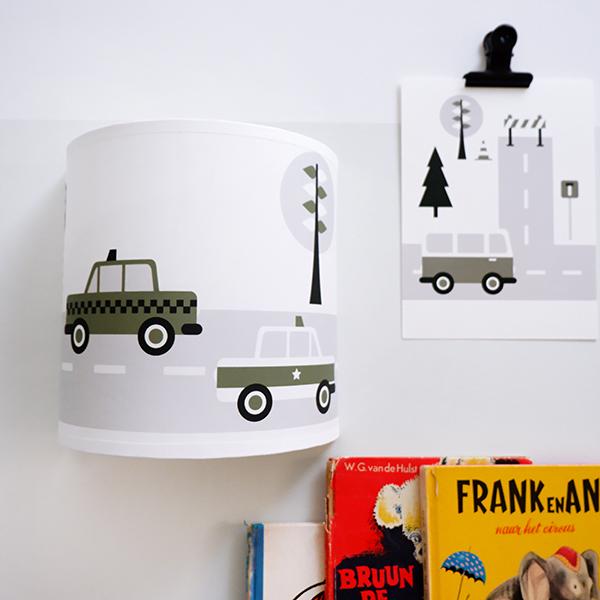 Wandlamp Voertuigen Auto olijf groen ANNIdesign 01