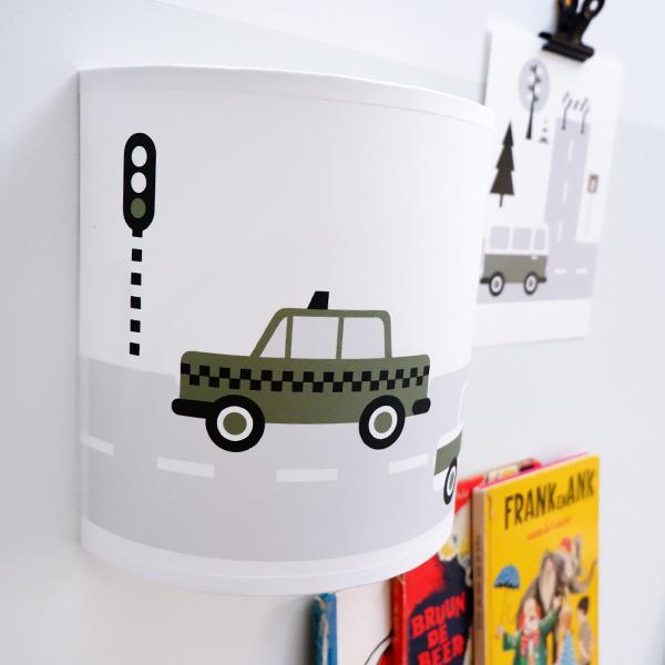 Wandlamp Voertuigen Auto olijf groen ANNIdesign 02