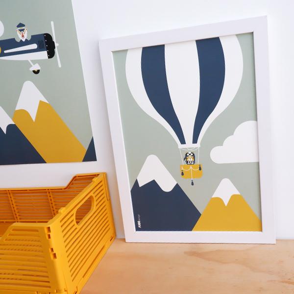 Poster Piloot tijger Luchtballon ANNIdesign 01