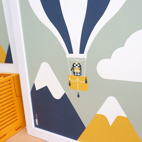 Poster Piloot tijger Luchtballon ANNIdesign 02