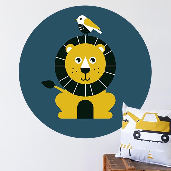 Behangcirkel Wild Life Leeuw ANNIdesign 01