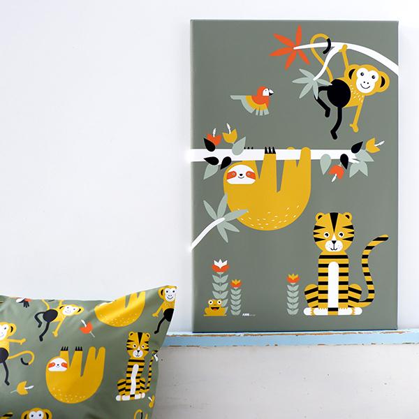 Canvas Jungle olijf groen 40x60 ANNIdesign 01