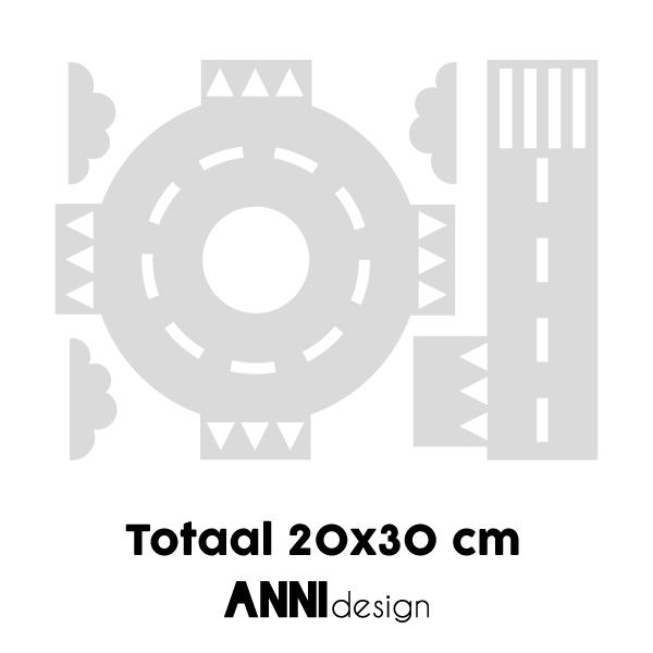 Muurstickers Wegdelen rotonde_ANNIdesign_03