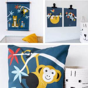 Jungle donker blauw ANNIdesign SET 1
